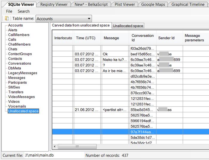 Forensic Analysis of SQLite Databases: Free Lists, Write Ahead Log