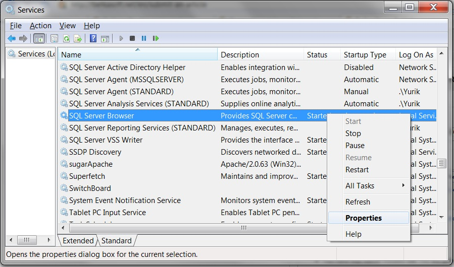 Manual SQL Server configuration